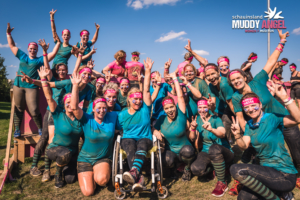 Großes Team Muddy